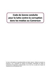 Fichier PDF code de bonne conduite pour la lutte contre la corruption dans l
