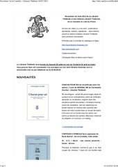 newsletter art et comedie librairie the trale aout 2012