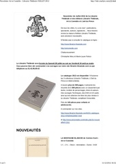 newsletter art et comedie librairie the trale juillet 2012