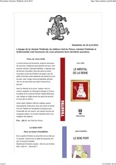 newsletter librairie the trale avril 2012