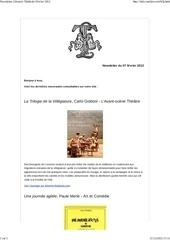 newsletter librairie the trale fevrier 2012