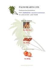 palm hearts price list 2012