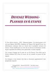 devenez wedding planner en 6 etapes