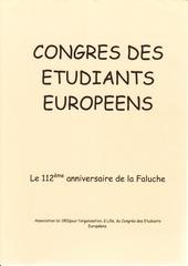 congres des etudiants europeens ou 112e anniversaire de la faluc