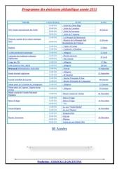 programme des emissions philatelique annee 2011