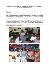 rapport des activites ylc ong mars 2012 decembre 2012