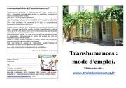 transhumances mode d emploi der