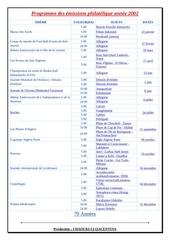 programme des emissions philatelique annee 2002