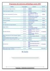 programme des emissions philatelique annee 2003