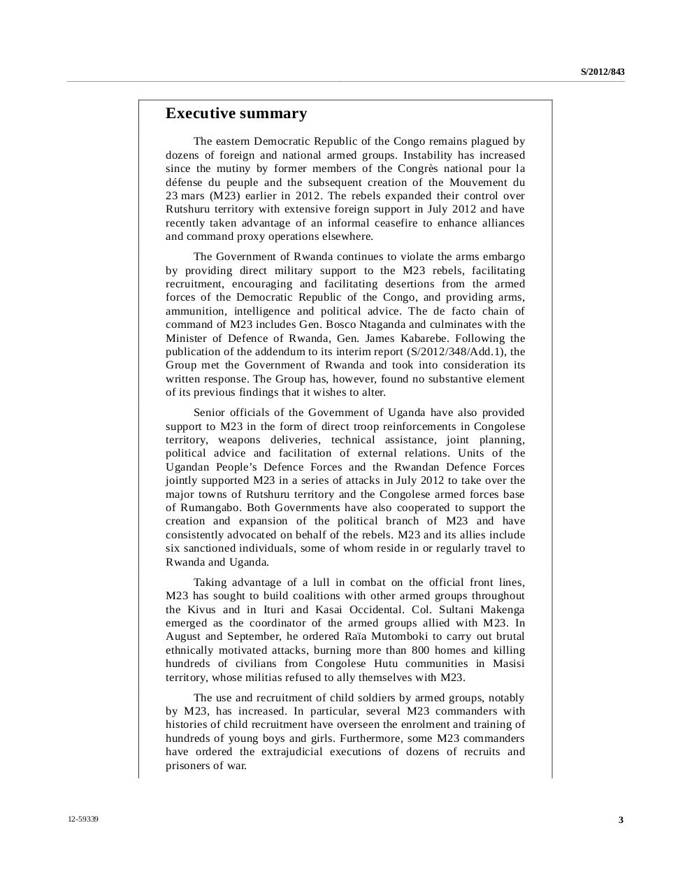 Rapport final du Groupe d'experts sur la République démocratique du Congo 15 novembre 2012  EN.pdf - page 3/204