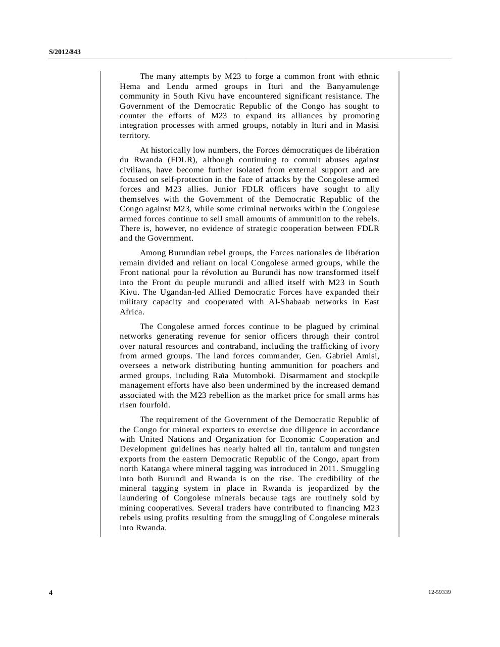 Rapport final du Groupe d'experts sur la République démocratique du Congo 15 novembre 2012  EN.pdf - page 4/204