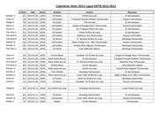 calendrier hiver 2013 ligue krtb 2012
