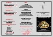 programme ecole de cuisine 2013