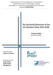 territorial dimension of cohesion policy 14 20 october 2012 vinc