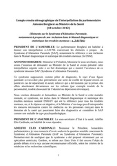 denonciation du sap par le ministre de la sante italien