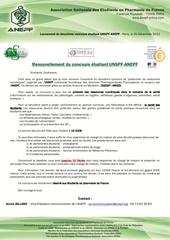 lancement deuxieme concours unspf anepf 1
