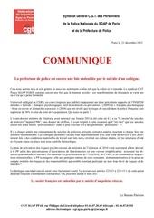 communique suicides pp