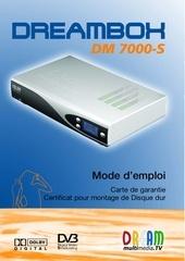 notice dreambox db7000v3 valable dm500 s pdf