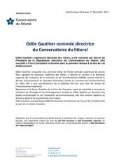 cp nomination o gauthier cdlx
