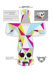 Fichier PDF lornalove papercraft skull colour 2