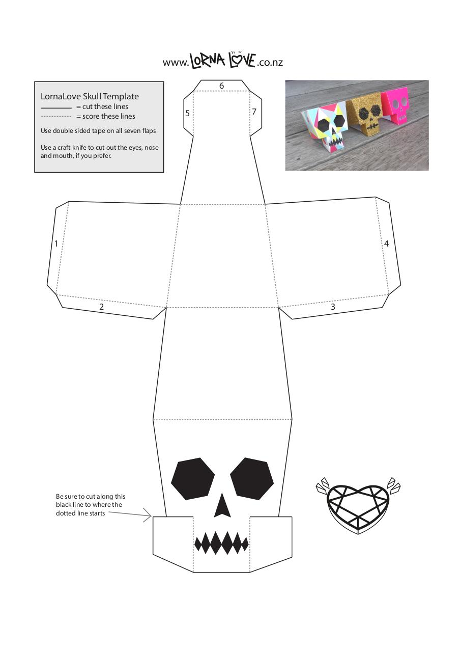 LornaLove papercraft skull - lornalove-papercraft-skull pdf