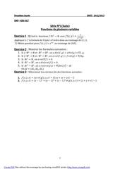 serien 1 fonc plu variables