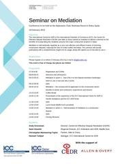mediation seminar 18 february 2013 doha