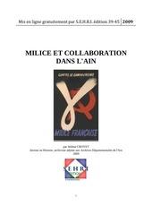 milice collaboration dans l ain