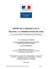 mission dgos rapport modernisation des samu 07 2010