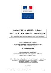 Fichier PDF mission dgos rapport modernisation des samu 07 2010
