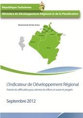 l indicateur officiel de developpement regional du gouvernorat de ben arousben arous