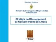 presentationde la strategie officielle de developpemnt du gouvernorat de ben arous