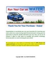 run a car on water
