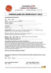 benevolat 2013