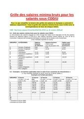 grille des salaires minima bruts pour les salaries sous cddu 1