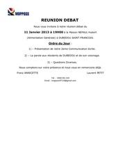 reunion debat 11 janvier 2013