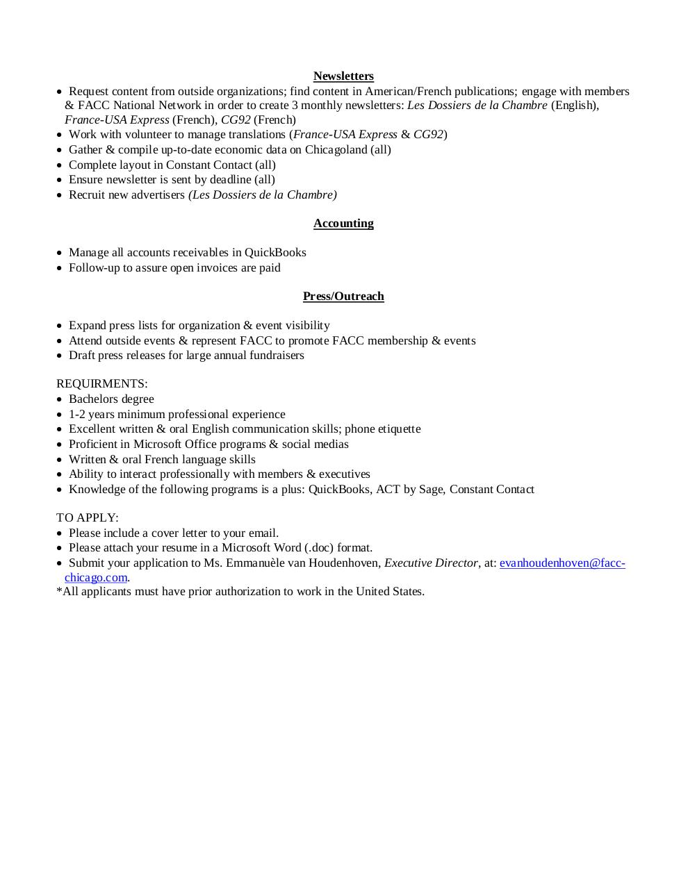 Job description office manager facc chicago job description office manager facc - It office manager job description ...
