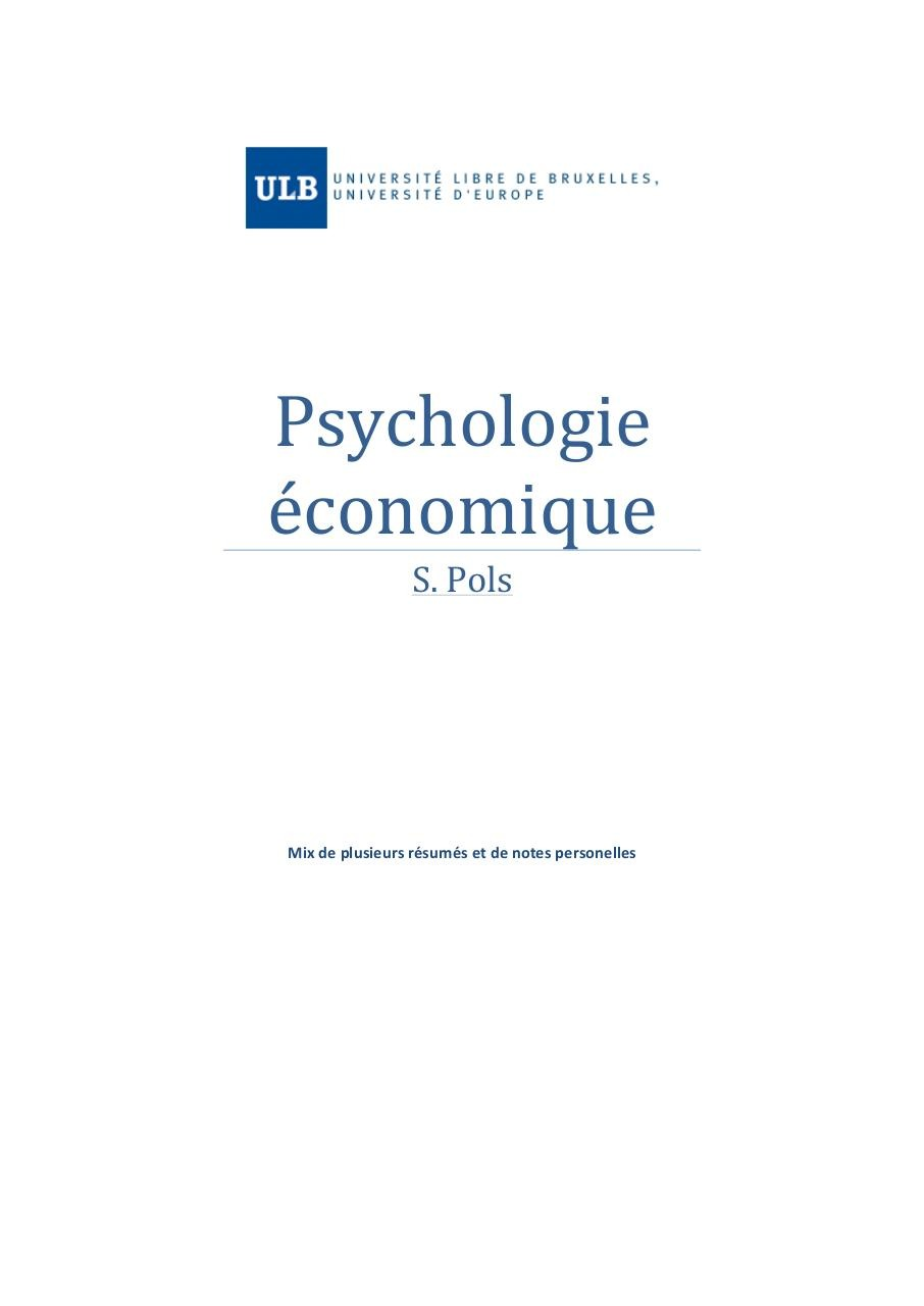Aperçu du document Psychologie économique- le Mix by Nico.pdf - page 1/82