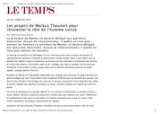 Fichier PDF le temps les projets de markus theunert pour reinventer l homme