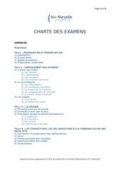 charte des examens