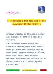 crystal 1 croyances