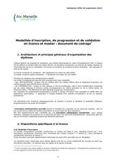 document de cadrage modalites de controle des connaissances amu