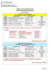 emploi du temps m1 fle 2012 2013 1