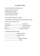 Fichier PDF le sujet et le verbe