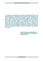 note de presentation projet loi finances 2013 maroc