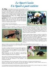 le sport canin