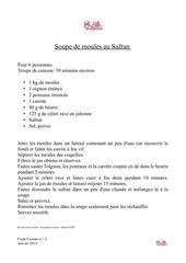 fiche cuisine 2 janvier 2013