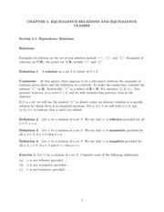 chapter 5 equivalence relations and equivalence classes