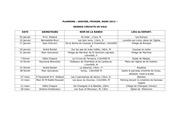 calendrier rando janvier fevrier mars 2013