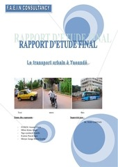 etude du transport urbain a yaounde cameroun